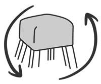 Recyceltes Sportgeräteleder und Turnmatte