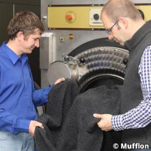 Mufflon-Material-verarbeiten