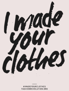 I made your clothes poster