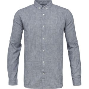 Knowledge Cotton Apparel Big Checked Cotton Linen Shirt