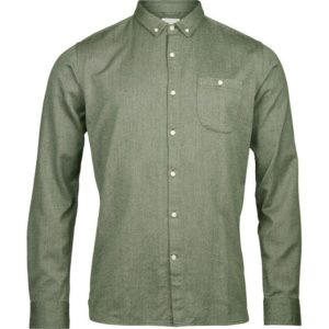 knowledge-cotton-apparel-melange-twill-shirt