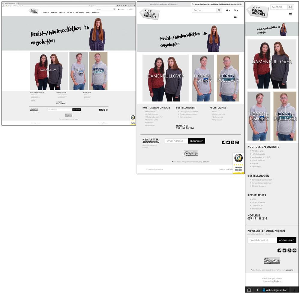 Neue WEB-Seite bei Kult-Design-Unikate