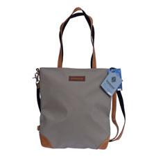 Shopper Kür in Grau aus recyceltem Sportgeräteleder und Turnmatte von Zirkeltraining™