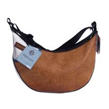 Damentasche Rad A aus recyceltem Sportgeräteleder und Turnmatte von Zirkeltraining™