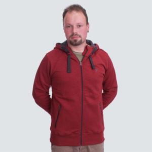 Zipper Classic dark red