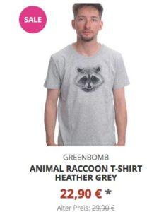 Animal Raccoon T-Shirt heather grey