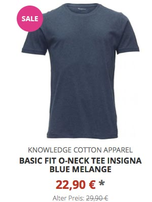 Basic Fit O-Neck Tee insigna blue melange