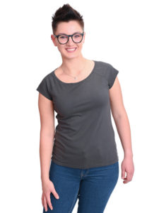 Basic T-Shirt Fini anthrazit