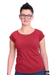 Basic T-Shirt Fini bordeaux
