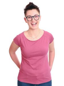 Basic T-Shirt Fini himbeere