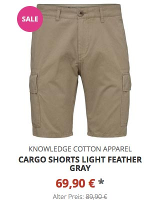 Cargo Shorts light feather gray