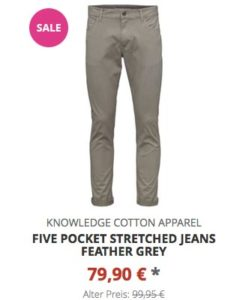Five Pocket Stretched Jeans feather grey