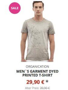 Men`s Garment Dyed Printed T-Shirt