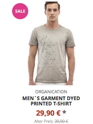 Men`s Garment Dyed Printed T-Shirt