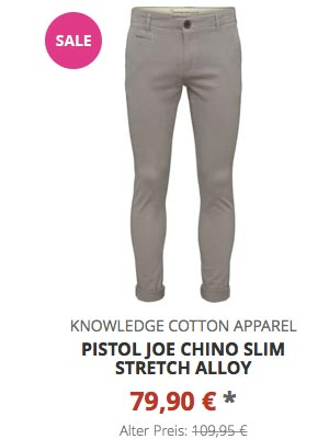 Pistol Joe Chino Slim Stretch alloy