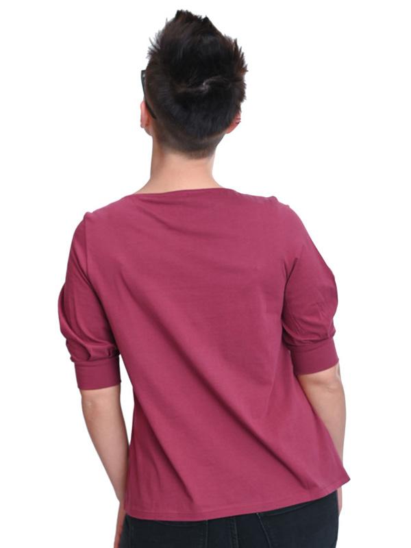 Shirt Ärmel mit Falten rhododendron