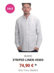 Striped Linen Hemd