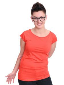 T-Shirt Cap Sleeve poppy red