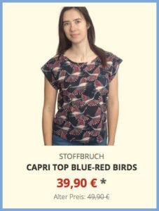 Capri Top blue-red birds