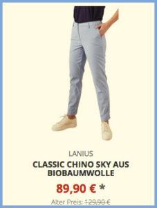 Classic Chino Sky aus Biobaumwolle