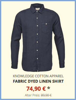 Fabric Dyed Linen Shirt
