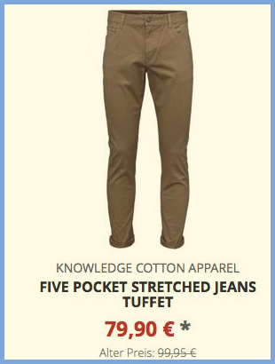 Five Pocket Stretched Jeans tuffet