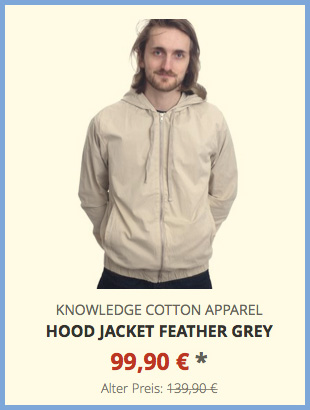 Hood Jacket feather grey