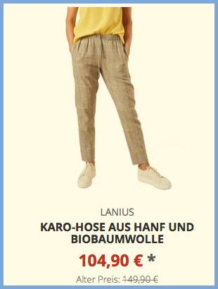 Karo-Hose aus Hanf und Biobaumwolle