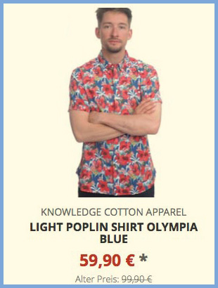 Light Poplin shirt olympia blue