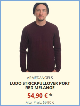 Ludo Strickpullover port red melange