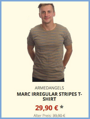 Marc Irregular Stripes T-Shirt