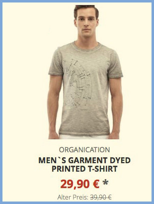 Mens Garment Dyed Printed T-Shirt