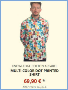 Multi Color Dot Printed Shirt