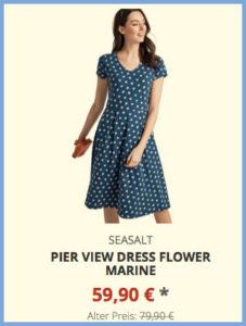 Pier View Dress Flower Marine