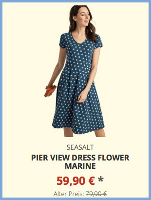 Pier View Dress Flower Marine