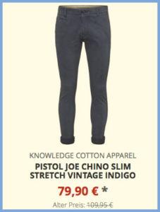 Pistol Joe Chino Slim Stretch vintage indigo