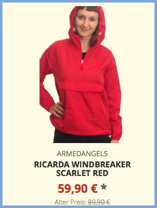 Ricarda Windbreaker scarlet red