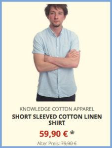 Short Sleeved Cotton Linen Shirt