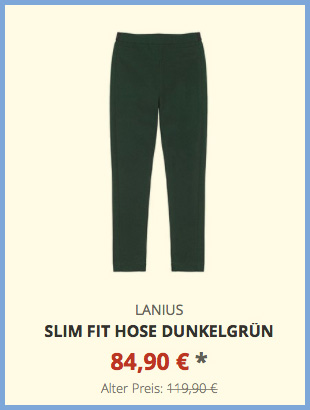 Slim Fit Hose dunkelgrün
