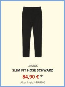 Slim Fit Hose schwarz