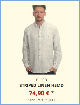 Striped Linen Hemd