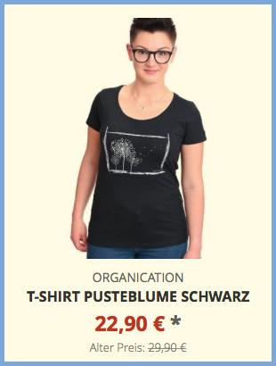 T-Shirt Pusteblume schwarz