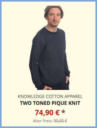 Two Toned Pique Knit