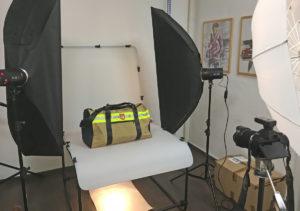 Produktfotografie Taschenaufbau