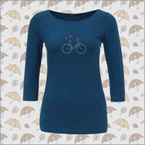 Bike Birds Longsleeve ocean blue