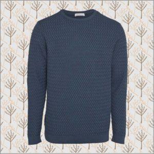 Small Diamond Knit Pullover dark denim