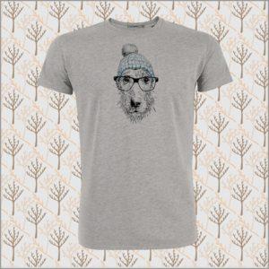 Animal Dog Glasses T-Shirt heather grey