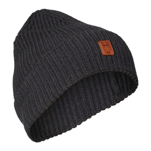 RIBBING HAT DARK GREY MELANGE