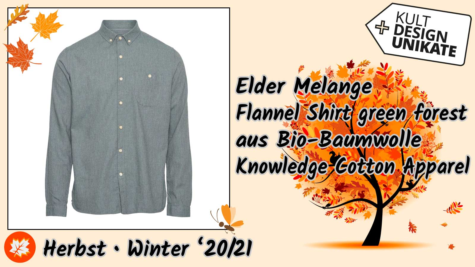 KCA-Elder-Melange-Flannel-Shirt-green-forest