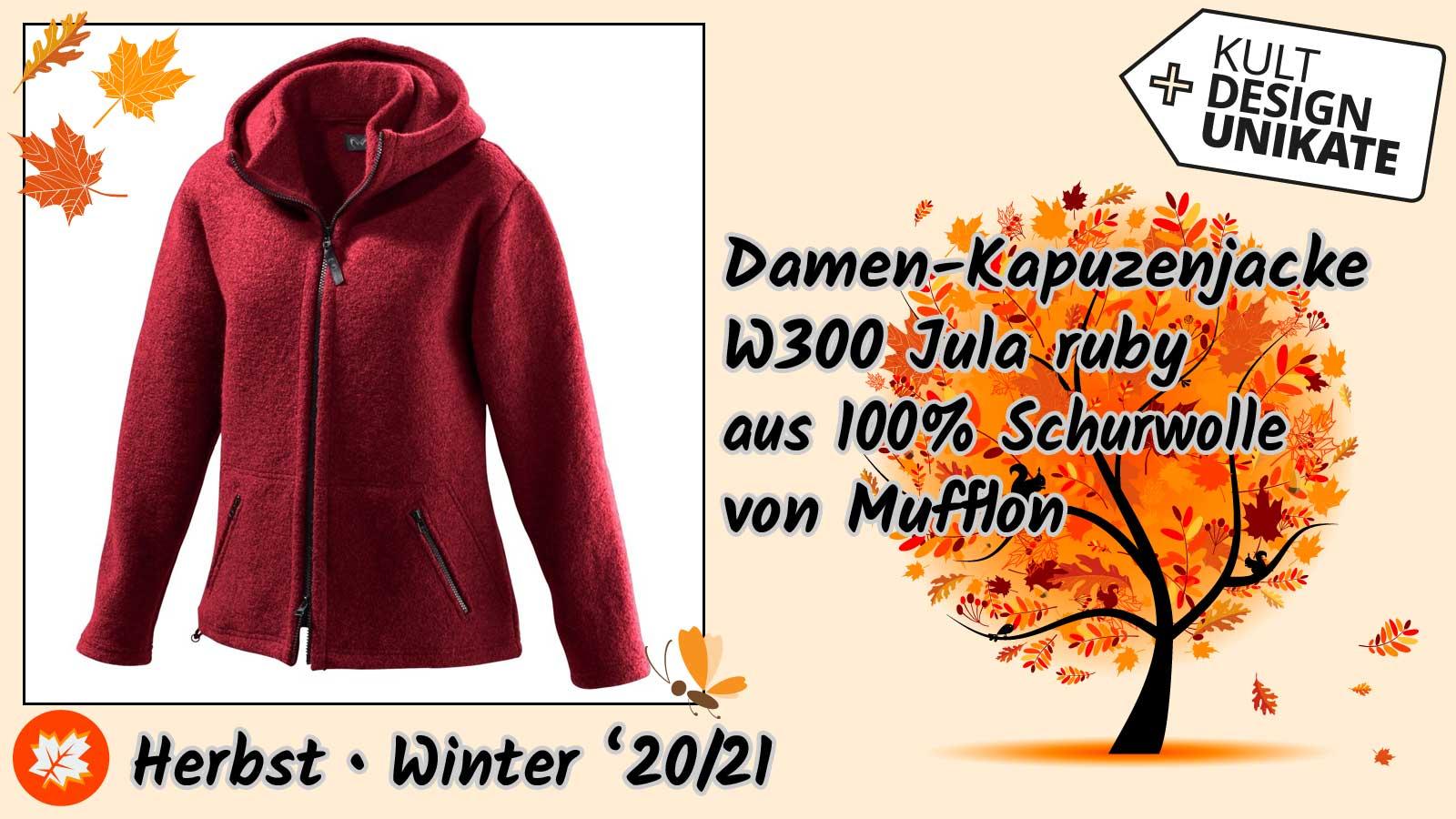 Mufflon-Damen-Kapuzenjacke-W300-Jula-ruby